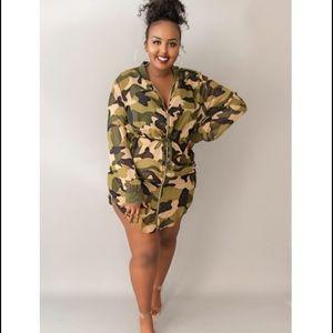 Dresses & Skirts - 😘😘😘 Plus Size Camo Dress